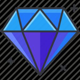 diamond, ecommerce, finance, shopping, value icon