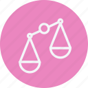 balance, justice, law, legal, police, scales, weight icon