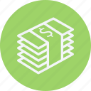 bank, bundle, card, currency, money, of, payment icon