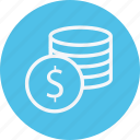 business, cash, coin, currency, dollar, finance, payment icon