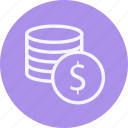 cash, coin, currency, euro, money, payment, stack icon