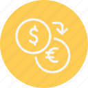 cash, convert, currency, euro, exchange, money, payment icon