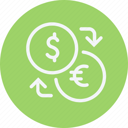 bank, business, cash, currency, exchange, financial, payment icon