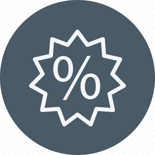 discount, ecommerce, finance, money, offer, percentage, shop icon