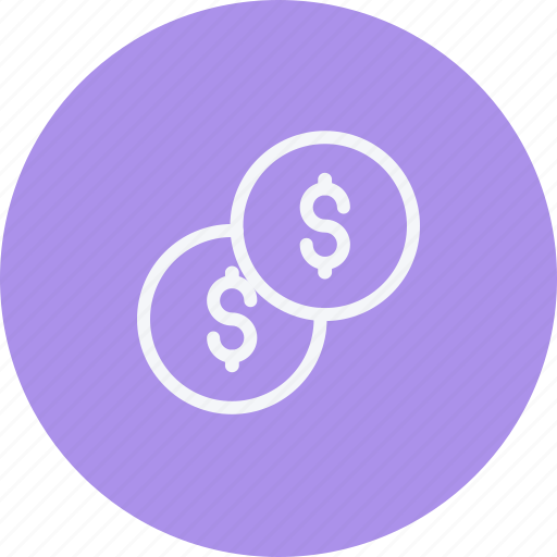 banking, cash, coin, currency, dollar, finance, payment icon