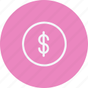 coin, currency, dollar, finance, money, payment, sign icon