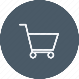 bag, basket, cart, ecommerce, empty, shopping, trolley icon