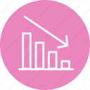 analysis, chart, finance, graph, growth, low, marketing icon