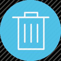 bin, close, dustbin, recycle, remove, trash, waste icon