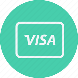 card, currency, dollar, euro, money, payment, visa icon
