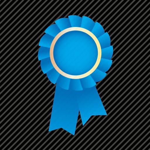 Award, badge, blue, medal, prize, ribbon icon | Icon ...