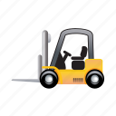 cargo, delivery, forklift, transportation, truck, vehicle icon