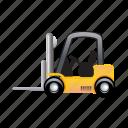 forklift, truck, cargo, delivery, transportation, vehicle