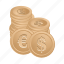 banking, coin, dollar, euro, financial, money icon