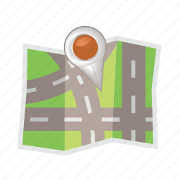 location, map, marker, navigation, pin, street icon