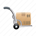 box, cart, stroller, trolley icon