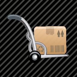 box, cart, stroller, trolley icon