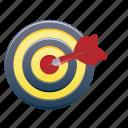 arrow, dart, pointer, target icon