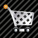 trolley, basket, shopping, store, supermarket