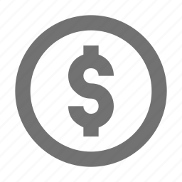cash, coin, currency coin, dollar coin, money icon