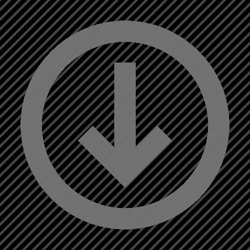 arrow, direction arrow, down arrow, download arrow, downloading icon