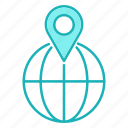 global, gps, location, pin icon