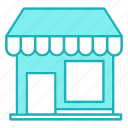 front, market, shopping, store icon