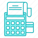 business, calculator, card, payment icon