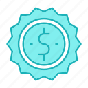 badge, money, sold icon