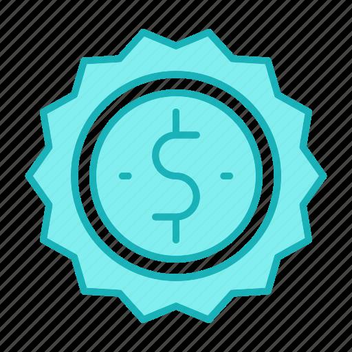 badge, money, sold icon