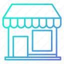 front, market, shopping and retail, store icon