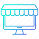 market, monitor, online, shopping and retail, store icon