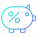 bank, business, piggy, savings, shopping and retail icon