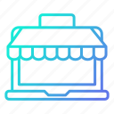 computer, online, shopping, shopping and retail, store icon