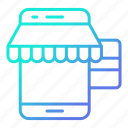 online, payment, shopping and retail, smartphone, store icon
