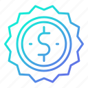 badge, currency, shopping and retail, sold icon