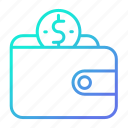 money, savings, shopping and retail, wallet icon