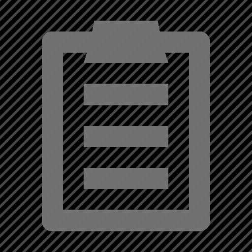 checklist, clipboard, list, memo, to do's icon