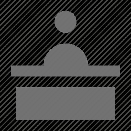 front desk, help desk, hotel reception, reception, receptionist icon