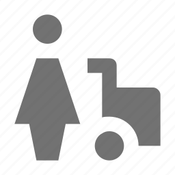 buyer, man with trolley, shopper, shopping cart, shopping trolley icon