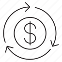 dollar, exchange, money, transfer icon