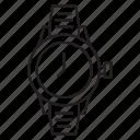 clock, time, watch, wrist