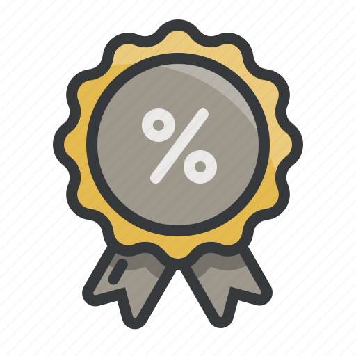 badge, coupon, discount, label, percent, price, sales icon