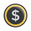 cash, coin, currency, dollar, finance, money, shopping icon