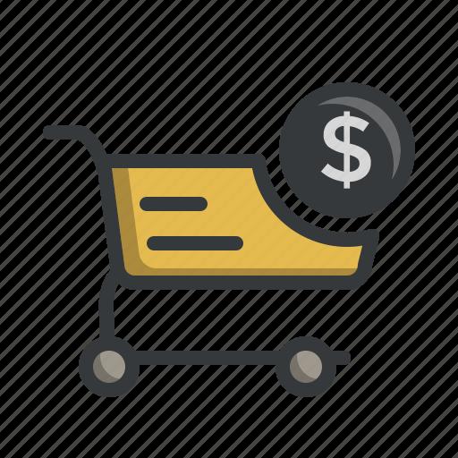 basket, cart, deals, dollar, savings, shop, shopping icon