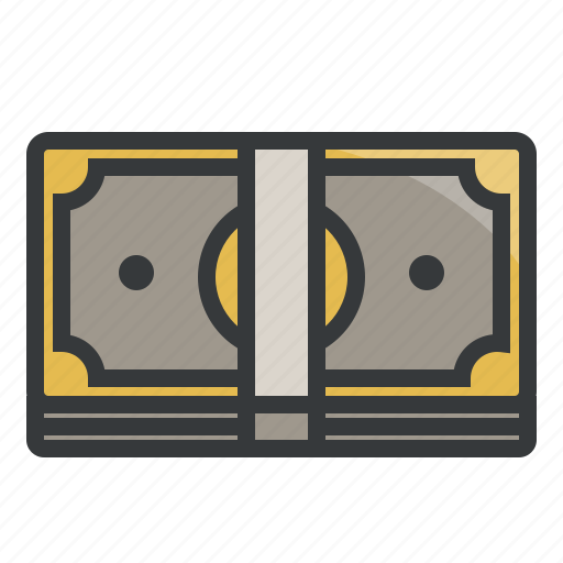 banknote, bills, cash, currency, finance, money, stack icon