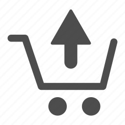 arrow, cart, ecommerce, empty, from, remove, shopping icon