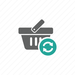 basket, shopping, shopping basket, update icon