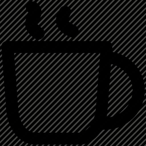 beverage, coffee mug, drink, hot coffee, hot drink, hot tea, tea mug icon