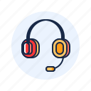 communication, customer service, headphone icon